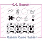 CC Designs - Cling Mounted Rubber Stamps - Garden Candy Labels