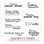 CC Designs - Cling Mounted Rubber Stamps - Logos Snowy Sentiments
