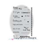 CC Designs - Clear Acrylic Stamps - Logos Smoochie Sentiments