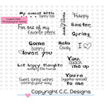CC Designs - Clear Acrylic Stamps - Logos Sweet Spring Sentiments