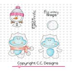 CC Designs - Meoples Collection - Cling Mounted Rubber Stamps - Yeti Fun