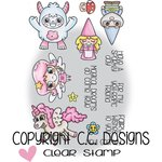 CC Designs - Meoples Collection - Clear Acrylic Stamps - Mythical Cuties