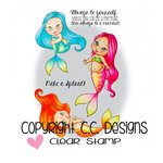 CC Designs - Pinkies Collection - Clear Acrylic Stamps - Sweet November Mermaids