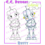 CC Designs - Pollycraft Collection - Cling Mounted Rubber Stamps - Rusty