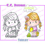 CC Designs - Pollycraft Collection - Cling Mounted Rubber Stamps - Shelby