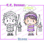 CC Designs - Pollycraft Collection - Cling Mounted Rubber Stamps - Bloom