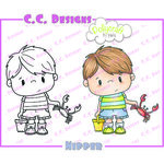 CC Designs - Pollycraft Collection - Cling Mounted Rubber Stamps - Nipper
