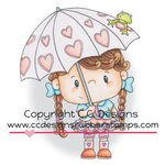 CC Designs - Pollycraft Collection - Cling Mounted Rubber Stamps - Rain