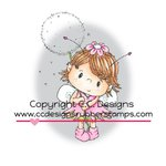 CC Designs - Pollycraft Collection - Cling Mounted Rubber Stamps - Elfie