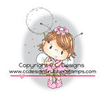 CC Designs - Pollycraft Collection - Cling Mounted Rubber Stamps - Pixie