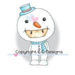 CC Designs - Pollycraft Collection - Cling Mounted Rubber Stamps - Frosty