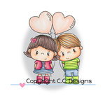 CC Designs - Pollycraft Collection - Clear Acrylic Stamps - Aimee and Valentino