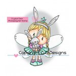CC Designs - Pollycraft Collection - Clear Acrylic Stamps - Fairy Princess Bunny