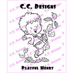 CC Designs - Robertos Rascals Collection - Cling Mounted Rubber Stamps - Playful Henry