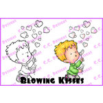 CC Designs - Robertos Rascals Collection - Cling Mounted Rubber Stamps - Blowing Kisses