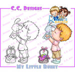 CC Designs - Robertos Rascals Collection - Cling Mounted Rubber Stamps - My Little Bunny