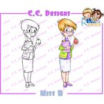 CC Designs - Robertos Rascals Collection - Cling Mounted Rubber Stamps - Miss B
