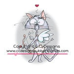 CC Designs - Robertos Rascals Collection - Cling Mounted Rubber Stamps - Grouchy Cupid