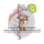 CC Designs - Robertos Rascals Collection - Cling Mounted Rubber Stamps - Stuck In A Tree
