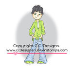 CC Designs - Robertos Rascals Collection - Cling Mounted Rubber Stamps - Chris