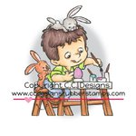 CC Designs - Robertos Rascals Collection - Cling Mounted Rubber Stamps - Coloring Eggs