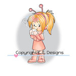 CC Designs - Robertos Rascals Collection - Cling Mounted Rubber Stamps - Cocoa Nancy