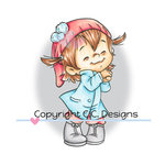 CC Designs - Robertos Rascals Collection - Cling Mounted Rubber Stamps - Happy Twila