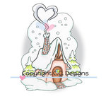 CC Designs - Robertos Rascals Collection - Cling Mounted Rubber Stamps - Winter Cottage