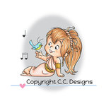 CC Designs - Robertos Rascals Collection - Clear Acrylic Stamps - Aphrodite Twila