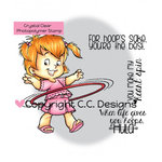 CC Designs - Robertos Rascals Collection - Clear Acrylic Stamps - Hoola Twila