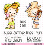 CC Designs - Robertos Rascals Collection - Clear Acrylic Stamps - Ice Scream