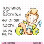 CC Designs - Robertos Rascals Collection - Clear Acrylic Stamps - My Big Wheels