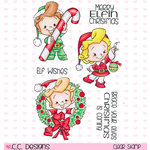 CC Designs - Robertos Rascals Collection - Christmas - Clear Acrylic Stamps - Elves