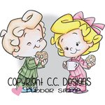 CC Designs - Robertos Rascals Collection - Cling Mounted Rubber Stamps - Breakfast