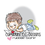 CC Designs - Robertos Rascals Collection - Cling Mounted Rubber Stamps - Henry Writing Valentines