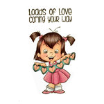 CC Designs - Robertos Rascals Collection - Cling Mounted Rubber Stamps - String of Hearts