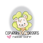 CC Designs - Robertos Rascals Collection - Cling Mounted Rubber Stamps - 4 Leaf Puppy