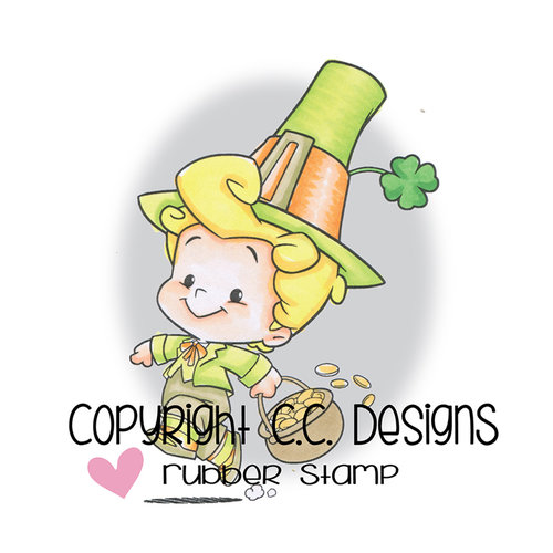 CC Designs - Robertos Rascals Collection - Cling Mounted Rubber Stamps - Leprechaun