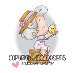 CC Designs - Robertos Rascals Collection - Cling Mounted Rubber Stamps - Chicky Girl