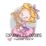 CC Designs - Robertos Rascals Collection - Cling Mounted Rubber Stamps - Birthday Puppy