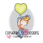 CC Designs - Robertos Rascals Collection - Cling Mounted Rubber Stamps - Balloon Boy
