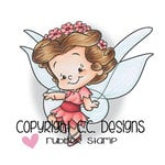 CC Designs - Robertos Rascals Collection - Cling Mounted Rubber Stamps - Cutie Butterfly