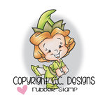 CC Designs - Robertos Rascals Collection - Cling Mounted Rubber Stamps - Pixie Girl