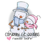 CC Designs - Rustic Sugar Collection - Cling Mounted Rubber Stamps - Snow Couple