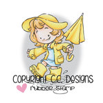 CC Designs - Rustic Sugar Collection - Cling Mounted Rubber Stamps - Umbrella Cinnamon
