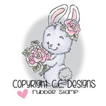 CC Designs - Rustic Sugar Collection - Cling Mounted Rubber Stamps - Rose Bunny