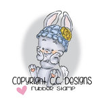 CC Designs - Rustic Sugar Collection - Cling Mounted Rubber Stamps - Sweet Bunny
