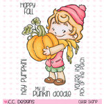 CC Designs - Rustic Sugar Collection - Clear Acrylic Stamps - Cinnamon with Pumpkin