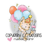 CC Designs - Rustic Sugar Collection - Cling Mounted Rubber Stamps - Party Kitty