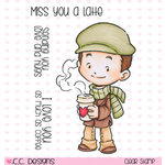 CC Designs - Rustic Sugar Collection - Clear Acrylic Stamps - Clove with Coffee
